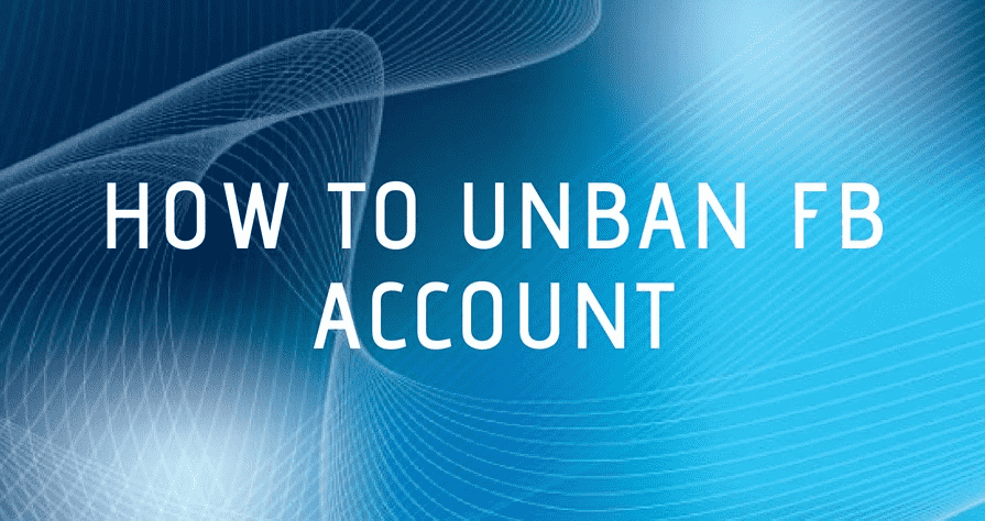 How to unban FB account